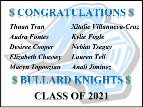 BHS FUSD Scholarship Winners